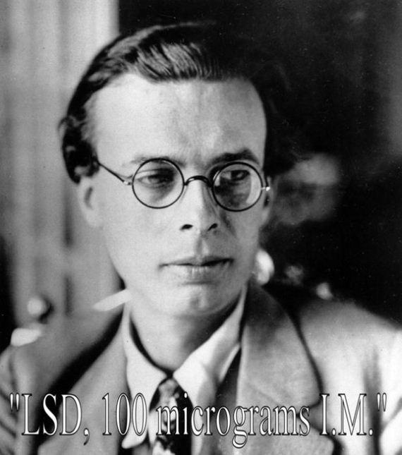 "Aldous Huxley: ""LSD, 100 microgramos I.M."""