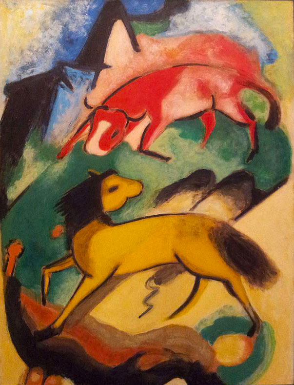 Caballo Amarillo y Toro Rojo