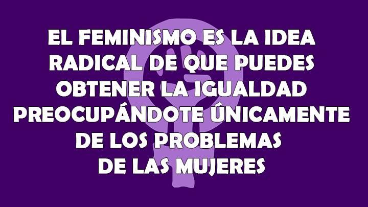 feminismo solo mujeres